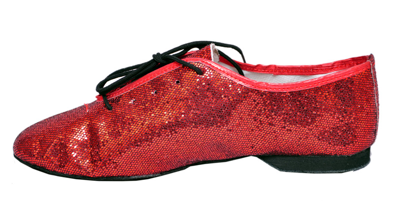 Red Glitter Jazz shoes, India Dance store