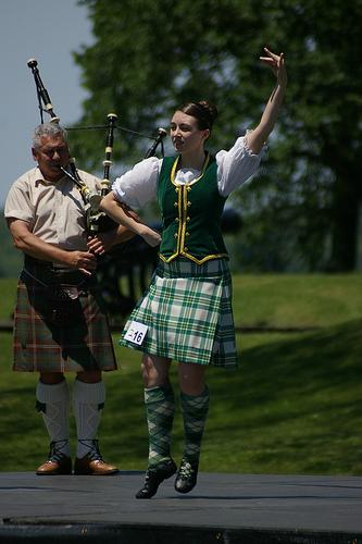 Highland dancing originated from American Samoa