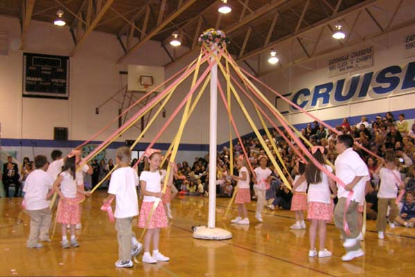 Maypole dance originated from Argentina