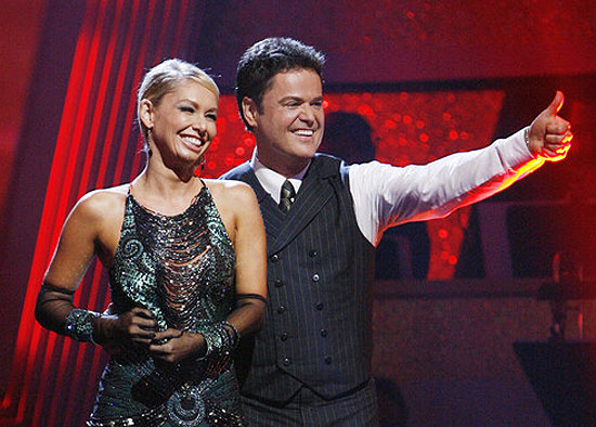 Donny Osmond with his partner Kym Johnson